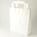 Papieren draagtassen Gkr wit