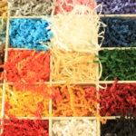 Papierwol gekleurd
